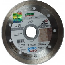 Алмазный диск DISTAR 125x22,23 мм. 1A1R CERAMICS сплошной