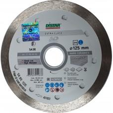 Алмазный диск DISTAR 125x22,23 мм. 1A1R HARD CERAMICS сплошной