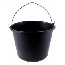 Ведро пластиковое черное 12 л.